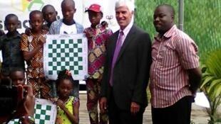 Peter Barlerin, sous-secrétaire d'Etat américain chargé des affaires africaines en visite au Togo le 9 août 2017.
