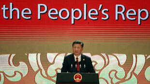 Chủ tịch Trung Quốc Tập Cận Bình (Xi Jinping) phát biểu tại Hội Nghị Thượng Đỉnh Doanh Nghiệp APEC, Đà Nẵng, Việt Nam, ngày 10/11/2017