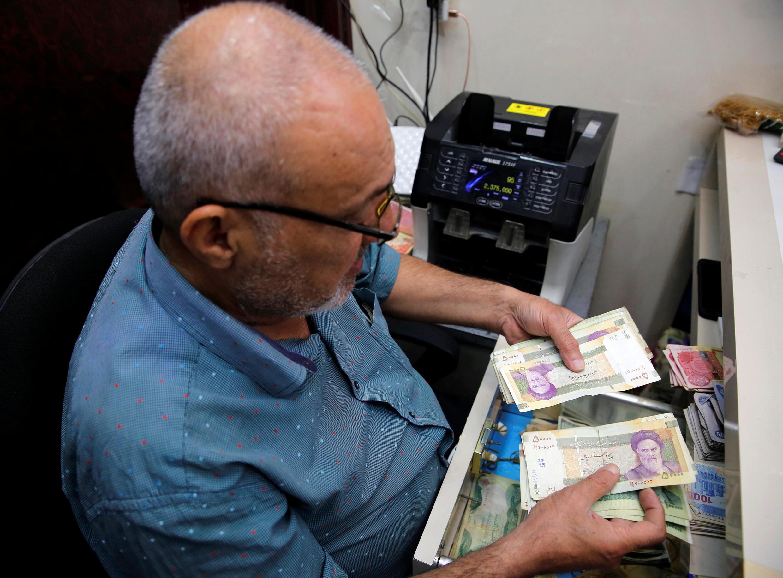 ریال ایران در یک صرافی عراقی - بغداد