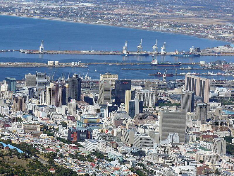 La ville du Cap en Afrique du Sud.
