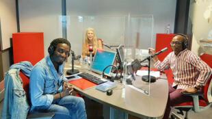 Le Club RFI - Marc Alexandre Oho Bambe, Myriam Guilhot et Éric Amiens, en studio à RFI