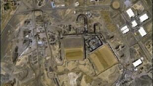 تصویر ماهواره ای از نیروگاه هسته ای نطنز