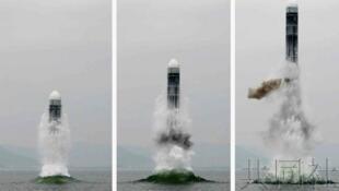 圖為朝鮮新發成功彈道導彈照片
