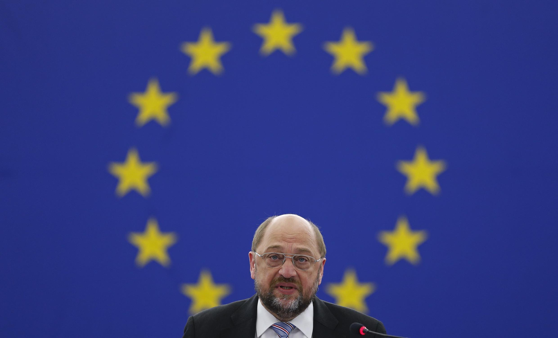 Martin Schulz à Strasbourg, le 16 avril 2014.