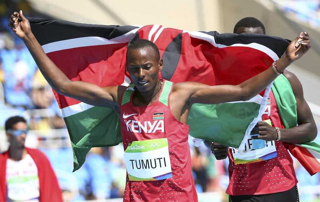 Mwanariadha wa Kenya, Boniface Mucheru, ambaye ameweka historia kwa nchi yake kwa kutwaa medali ya fedha kwenye michezo ya Olimpiki, 18 Agosti, 2016