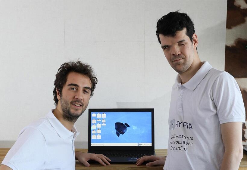 Jean-Philippe Mengual y Corentin Voiseux, fundadores de Hypra.