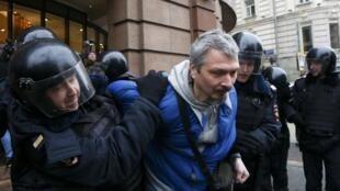 Более 50 человек были задержаны на акции протеста в Москве 2 апреля 2017 года