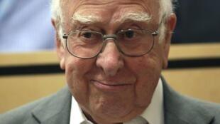 Peter Higgs, le 4 juillet 2012.