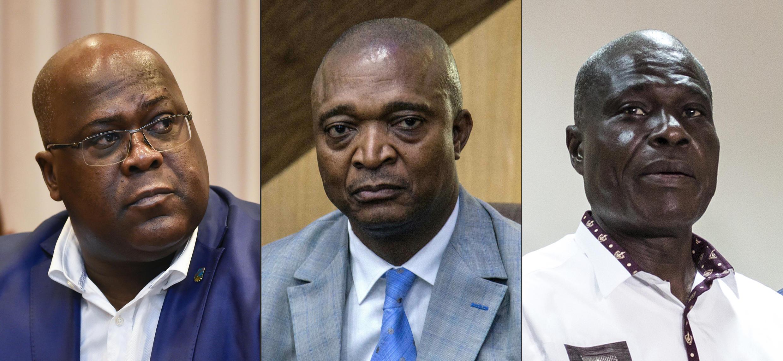 刚果(金)三位主要总统候选人 (左到右) : Félix Tshisekedi, Emmanuel Ramazani Shadary et Martin Fayulu.