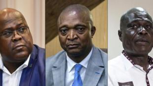Les trois poids lourds de l'élection présidentielle congolaise (de gauche à droite) : Félix Tshisekedi, Emmanuel Ramazani Shadary et Martin Fayulu.