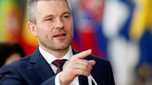 Le nouveau premier ministre slovaque Peter Pellegrini.