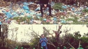 'Tomen una foto de un sitio que necesita ser limpiado o arreglado, y tomen luego una foto después de haber hecho algo para cambiarlo, y postéenla', propuso Byron Román.