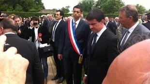 Эмманюэль Вальс на памятной церемонии в г. Орадур-сюр-Глан 10/06/2014