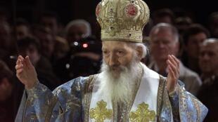 Le patriarche serbe Pavle le 7 janvier 2003.
