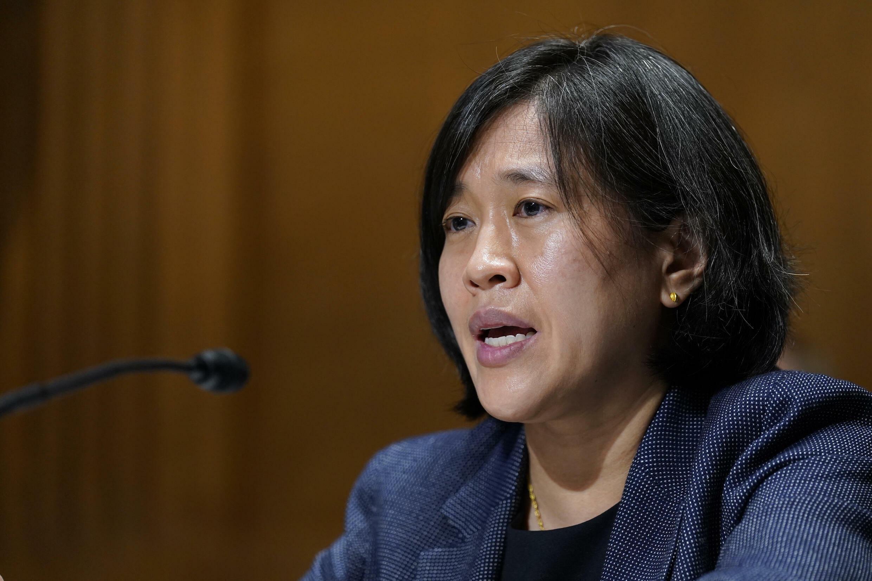 La representante comercial de Estados Unidos (USTR), Katherine Tai, durante una audición en el Congreso el 12 de mayo de 2021.