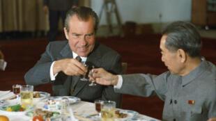Tổng thống Mỹ Richard Nixon và ông Chu Ân Lai, 25/02/1972.