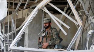 Khu vực bị tấn công khủng bố tại thủ đô Kabul, Afghanistan. Ảnh ngày 29/08/2017.