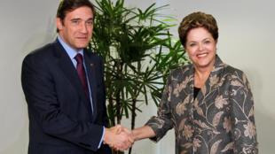 Presidenta Dilma Rousseff durante encontro com o primeiro-ministro de Portugal, Pedro Passos Coelho, no Palácio do Planalto.