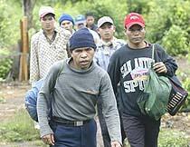 Người Thượng Tây Nguyên tỵ nạn tại Cam Bốt.