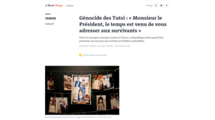 Capture d'écran du site du quotidien Le Monde. 7 avril 2021.