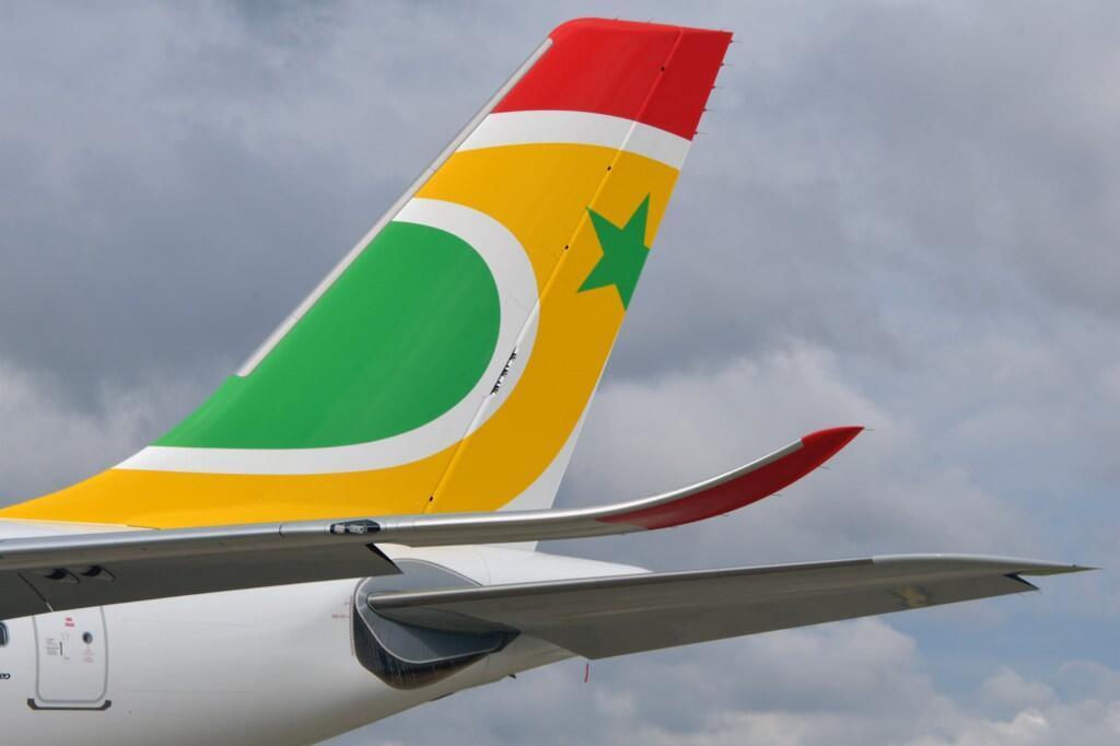 La queue d'un Airbus A330-900 de la compagnie Air Sénégal.
