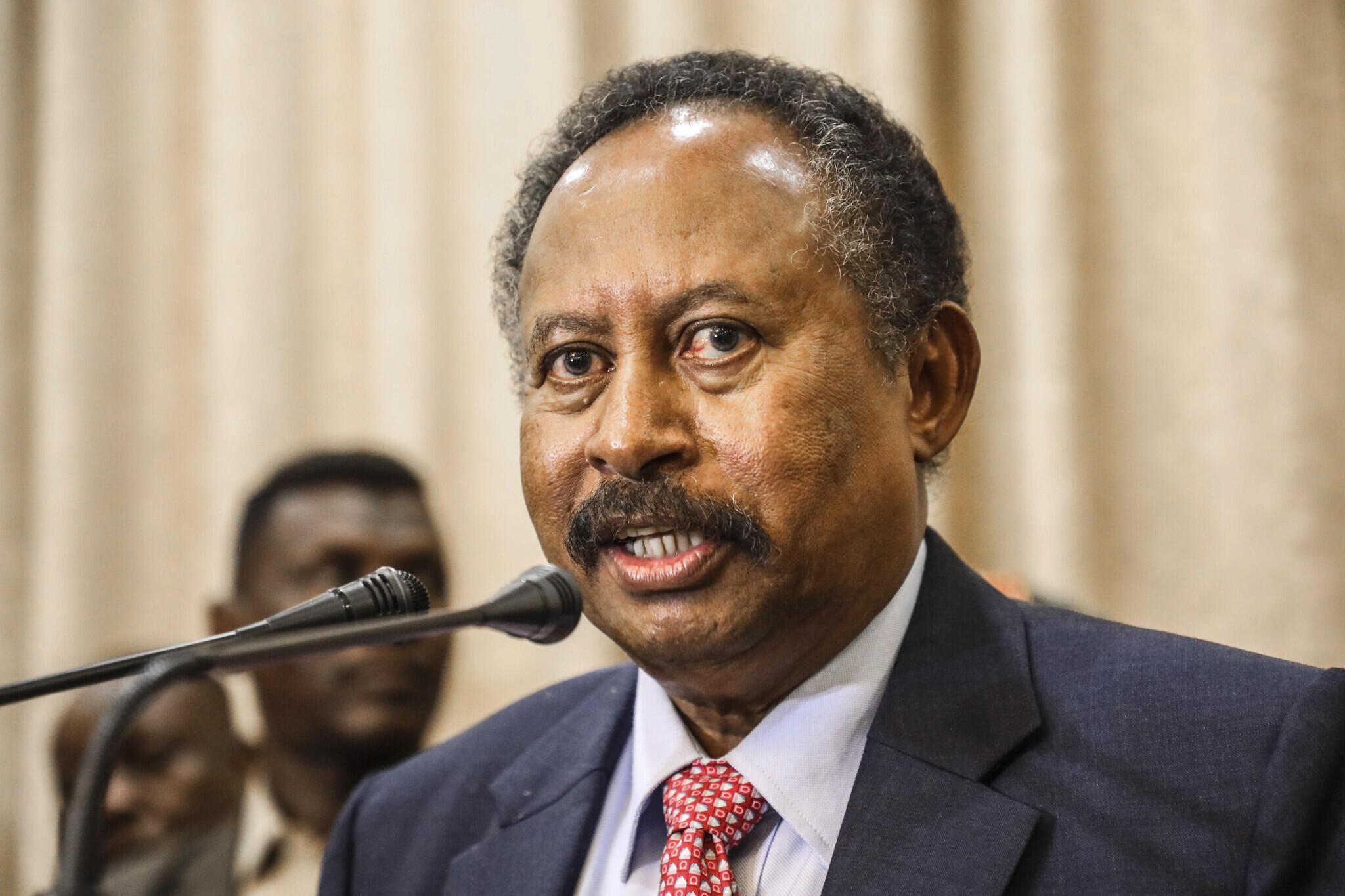 Le Premier ministre soudanais Abdalla Hamdok.