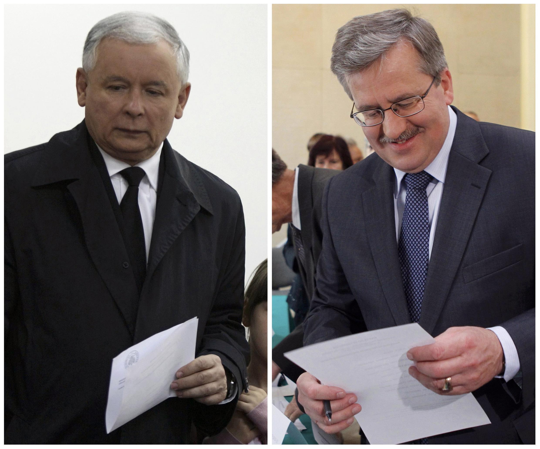 Ярослав Качиньский и Бронислав Коморовский