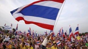 Manifestation des « chemises jaunes », à Bangkok le 15 novembre 2009.