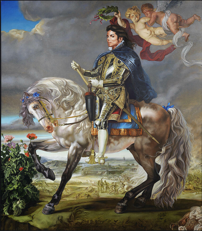 Kehinde Wiley Equestrian Portrait of King Philip II (Michael Jackson)