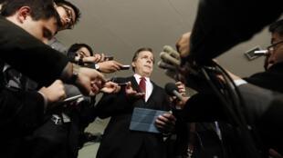 Американский спецпосланник в Северной Корее Глин Дэвис 28 января 2013 год. Токио