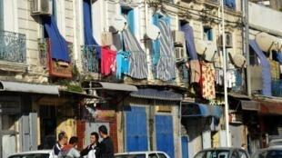 Le quartier populaire de Bab el-Oued dans le centre-ville d'Alger (ici en janvier 2011).