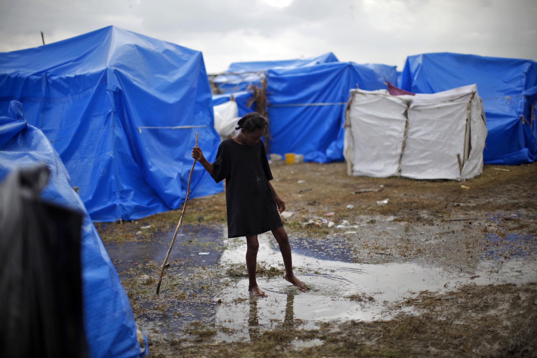 A refugee camp in Cité du Soleil in Port-au-Prince, Haiti
