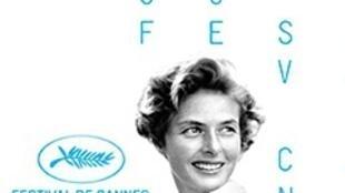 L'affiche officielle du Festival de Cannes 2015. A l'occasion de sa 68e édition (13-24 mai 2015), le Festival rend hommage à Ingrid Bergman en la choisissant pour figurer sur son affiche, succédant à Marcello Mastroianni.