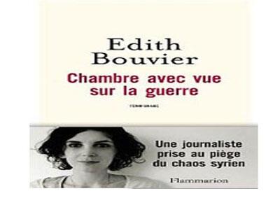 Couverture du livre«chambre avec vue sur la guerre» d'Edith Bouvier.