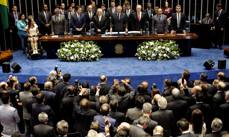 Cerimônia de posse de Michel Temer, no Senado Federal.