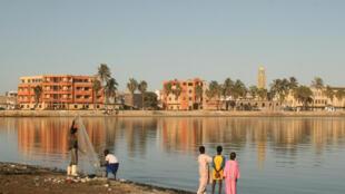 Une vue de l'Ile sud à Saint-Louis du Sénégal.