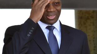 Djibrill Bassolé, lorsqu'il était ministre des Affaires étrangères du Burkina Faso, le 4 octobre 2013, à Ouagadougou.