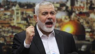 Shugaban kungiyar Falasdinawa ta Hamas Ismail Haniya.