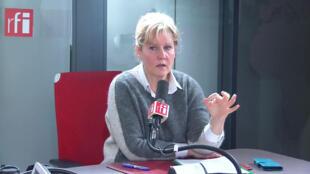 Nadine Morano, ancienne ministre et députée européenne dans les locaux de RFI, le 23 janvier 2020.