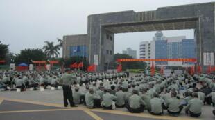 圖為中國頻發複員軍人上訪維權事件照片