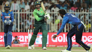 Pakistan's Shoaib Malik in action during the fourth one day international (ODI) cricket match between Sri Lanka and Pakistan.