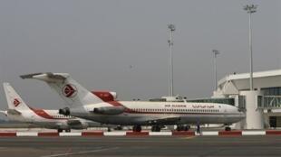 Un avion de la compagnie Air Algérie à Alger.