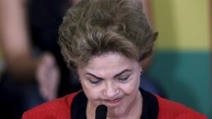 La presidenta brasileña Dilma Rousseff, el 13 de agosto 2015 en Brasilia.
