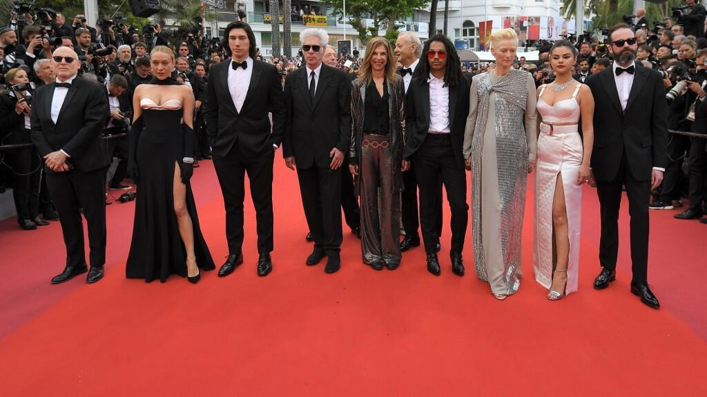 """Looking lively: the cast of """"The Dead Don't Die"""", the opening film at the 2019 Cannes Film Festival, by Jim Jarmusch, 14 May 2019."""