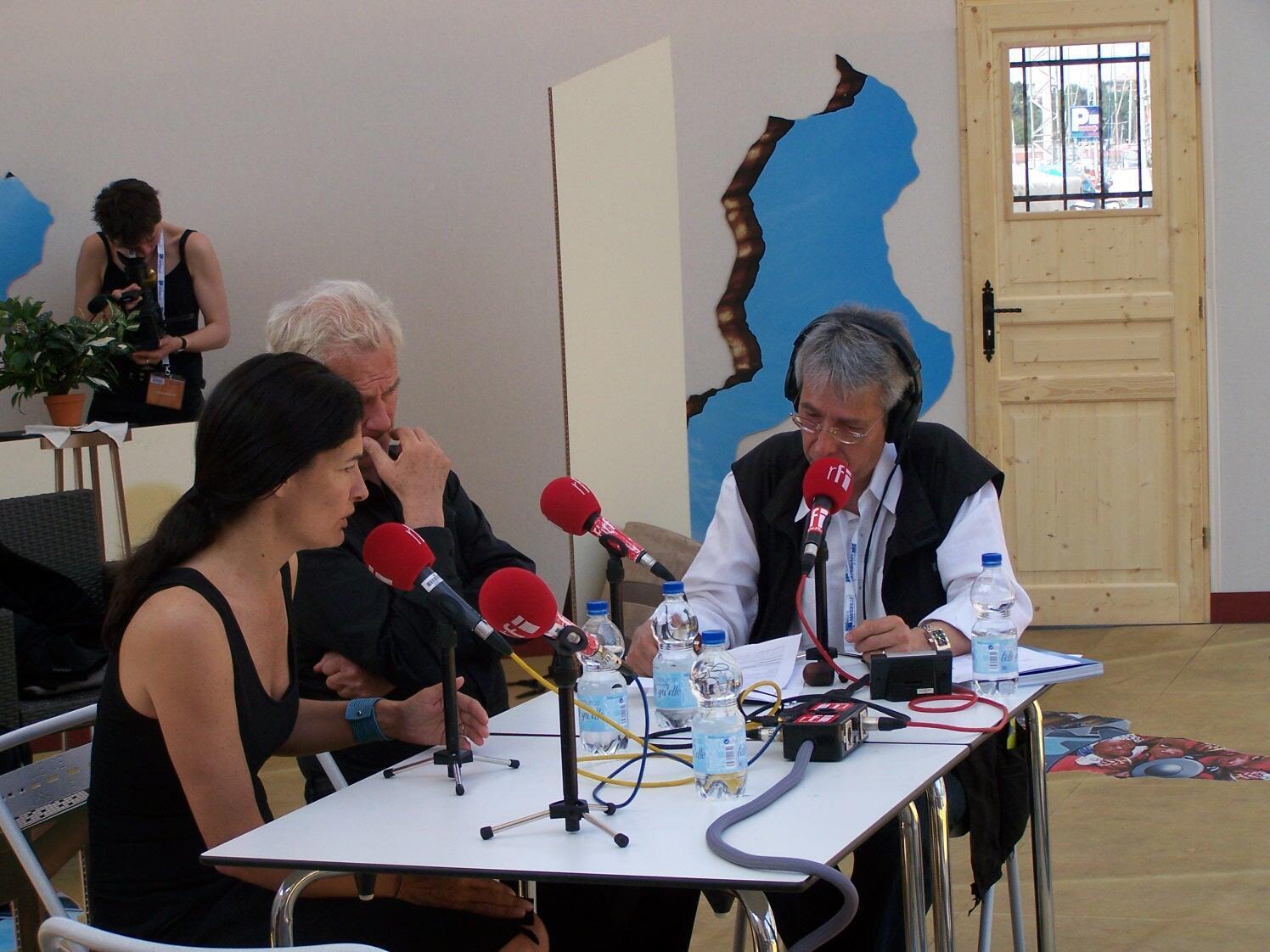 Patricia Ricard, Jacques Rougerie et Jean-Yves Casgha