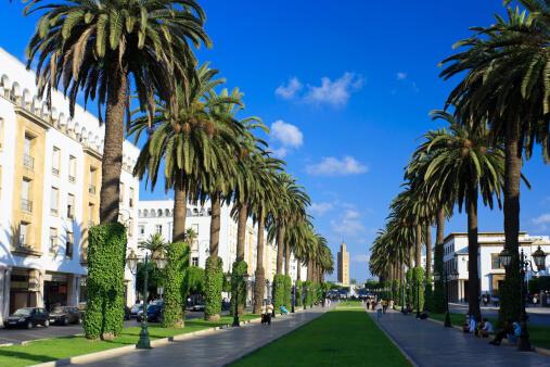 L'avenue Mohammed V à Rabat, capitale du Maroc (Image d'illustration).