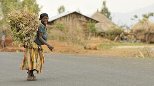 A Konso woman, living off agriculture in Ethiopia