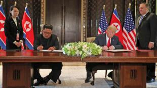 اکثر کارشناسان، محتوای سند امضا شده توسط رؤسای جمهوری آمریکا و کره شمالی را کلی و گنگ میدانند- ١٢ ژوئن ٢٠١٨