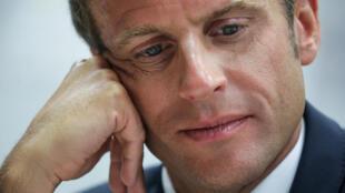 Le président de la République française Emmanuel Macron.