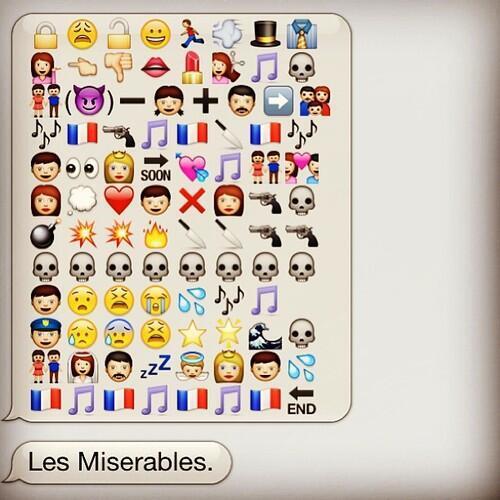 Le roman «Les Misérables» résumé en émoticônes ? Ok...